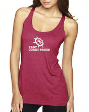 Load image into Gallery viewer, East Coast Proud - Ladies Dark Racerback Tank
