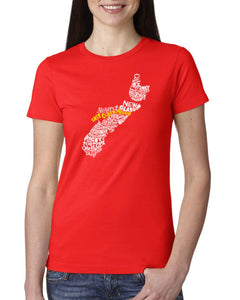 Nova Scotia Map - East Coast Proud Ladies T-Shirt
