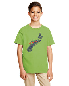 YOUTH - Nova Scotia Map - East Coast Proud T-Shirt