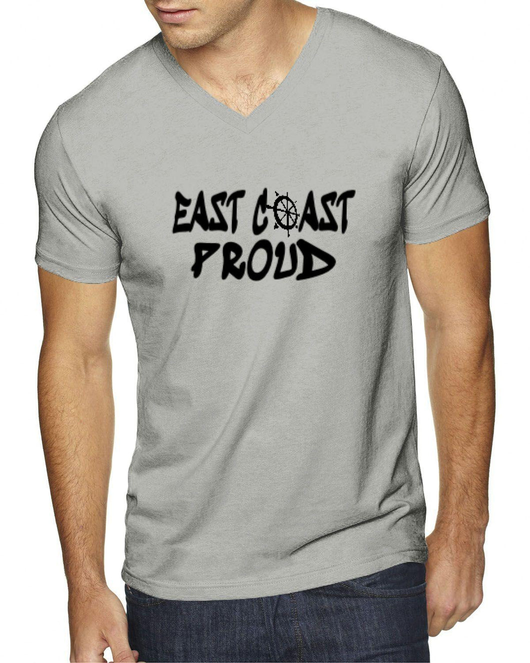 East Coast Proud Helm Mens V-Neck T-Shirt