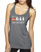 Load image into Gallery viewer, 2Papas - 644 East Coast Proud Doughboys Ladies Racerback Tank