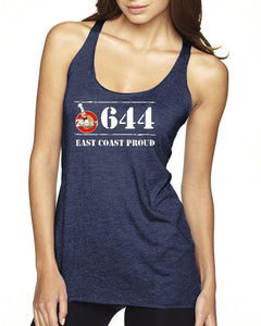 2Papas - 644 East Coast Proud Doughboys Ladies Racerback Tank