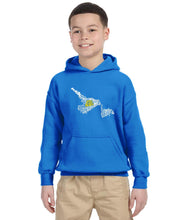 Load image into Gallery viewer, East Coast Proud - Newfoundland & Labrador Map YOUTH Hoodie