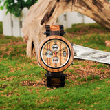 Multi-function Ebony Wooden Watch