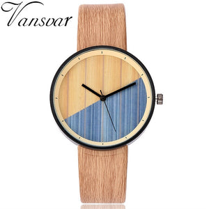 Stunning Wooden Watch with Leather Band