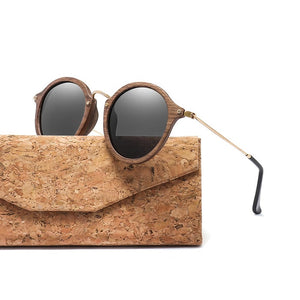 Ultralight Round Frame Wooden Sunglasses