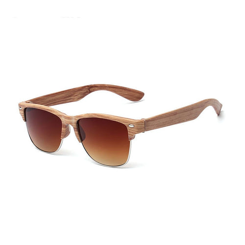Classic Polarised Mirror Wooden Sunglasses