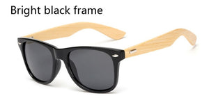 Clear Frame Wooden Sunglasses
