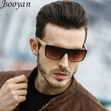 Retro Flat Wooden Sunglasses