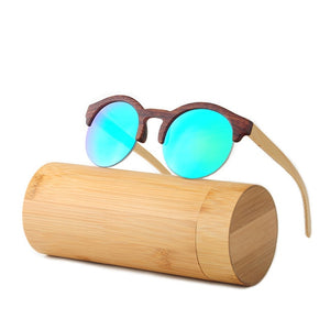 Fashionable Mirror Wooden Sunglasses