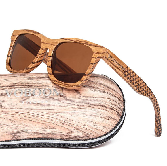 Classy Wooden Sunglasses with Case