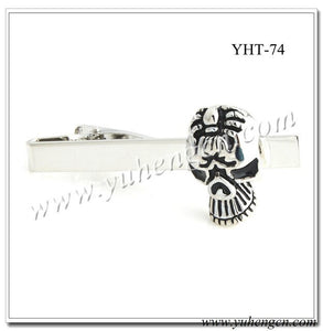 YHT-73 Black Enamel Skull Funny and Cool Tie Clips,Novelty Tie Bar-Mixed Styles Acceptable