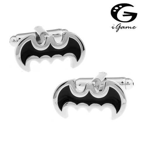 iGame Shirt Cufflinks Brass Material Classic Batman Design Cuff Links Free Shipping