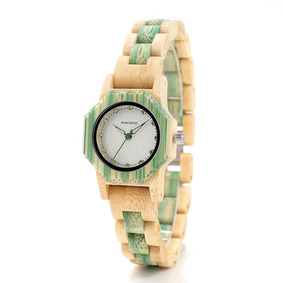Fashion Colours Bling Scales Wooden Watch