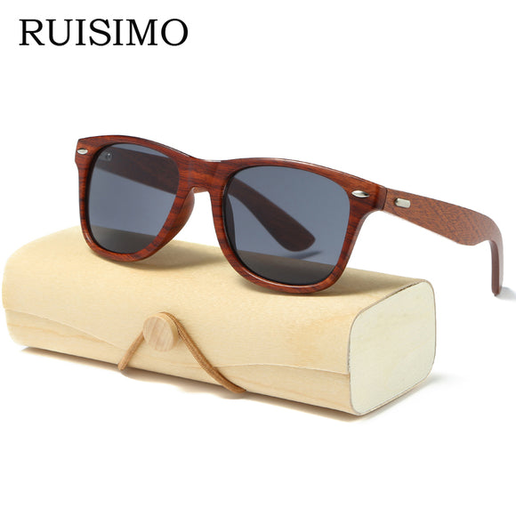 Mirror Handmade Wood Sunglasses