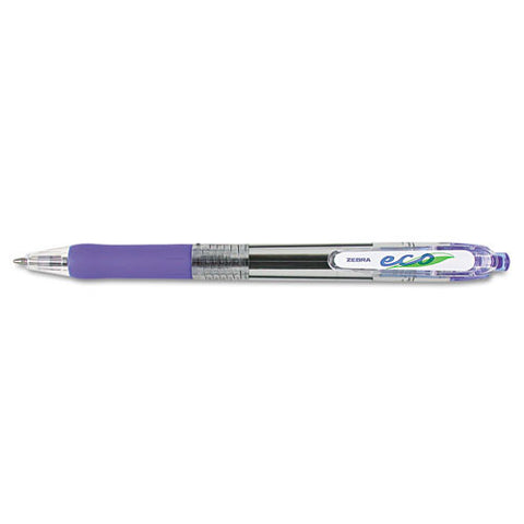 75% Post-consumer recycled retractable, Medium, Ballpoint Pen. Blue ink. 12/box. ZEB-22520