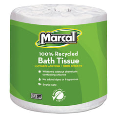 Marcal® Small Steps for Julia! 100% Recycled 1-Ply Bath Tissue, 1000 Sheets/Roll, 40 Rolls/Carton. MRC4415