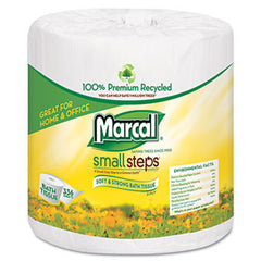 MRC-6079   100% Recycled, Minimum 60% PC.Two-Ply Bathroom Tissue. White. 300 sheets/roll, 48 rolls/carton.