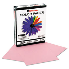 PINK 30% Post-consumer recycled, 20lb, letter size, 500 sheets/rm. UNV-11204