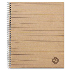 Bagasse/Sugarcane Based Wirebound Notebook, Wide, 11-3/4 x 8-1/2, White college ruled paper, 100-Sheets UNV-66208