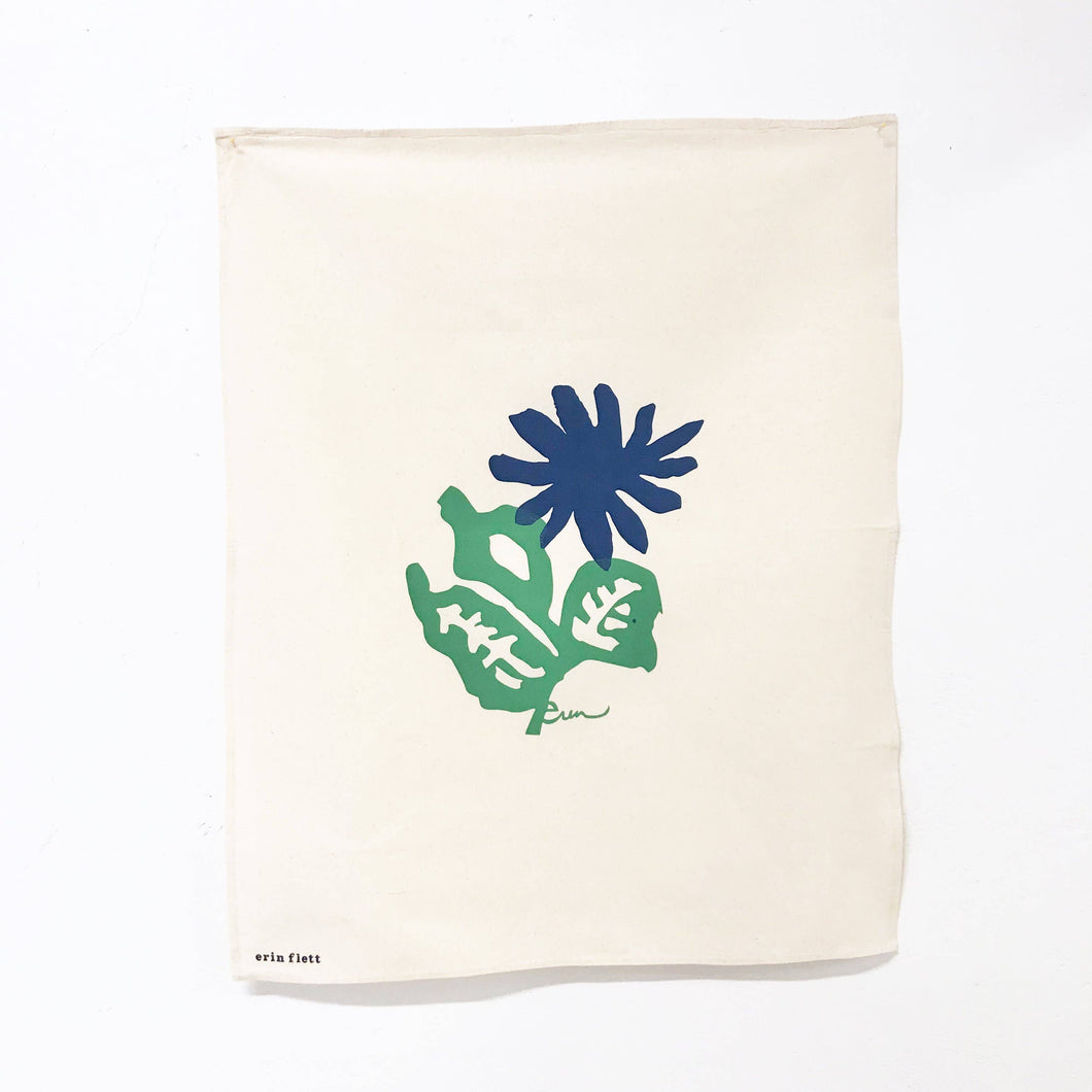 Limoges Flower Tea Towel