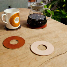 Load image into Gallery viewer, Donut Coaster, set/4, Black
