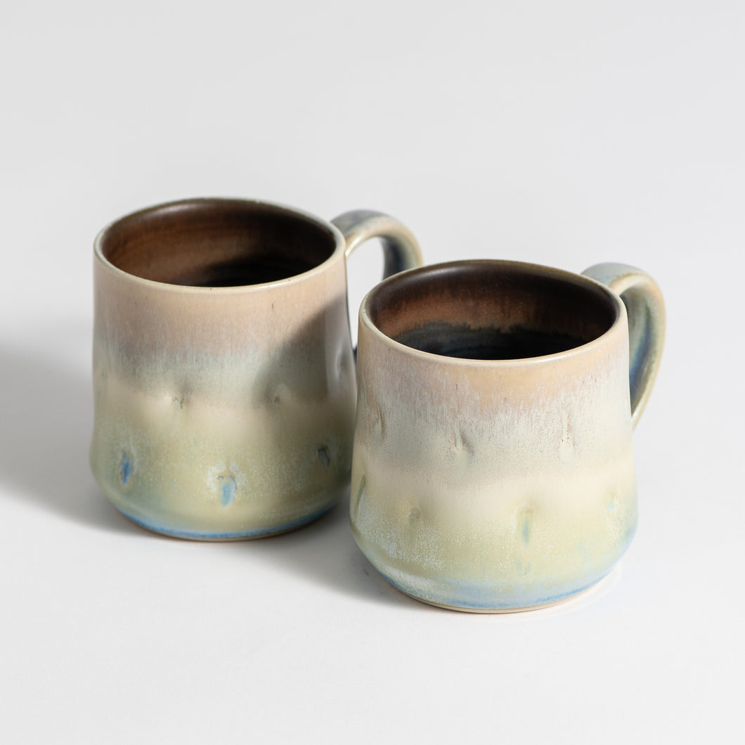 Hand Thrown Mug Pair #1968