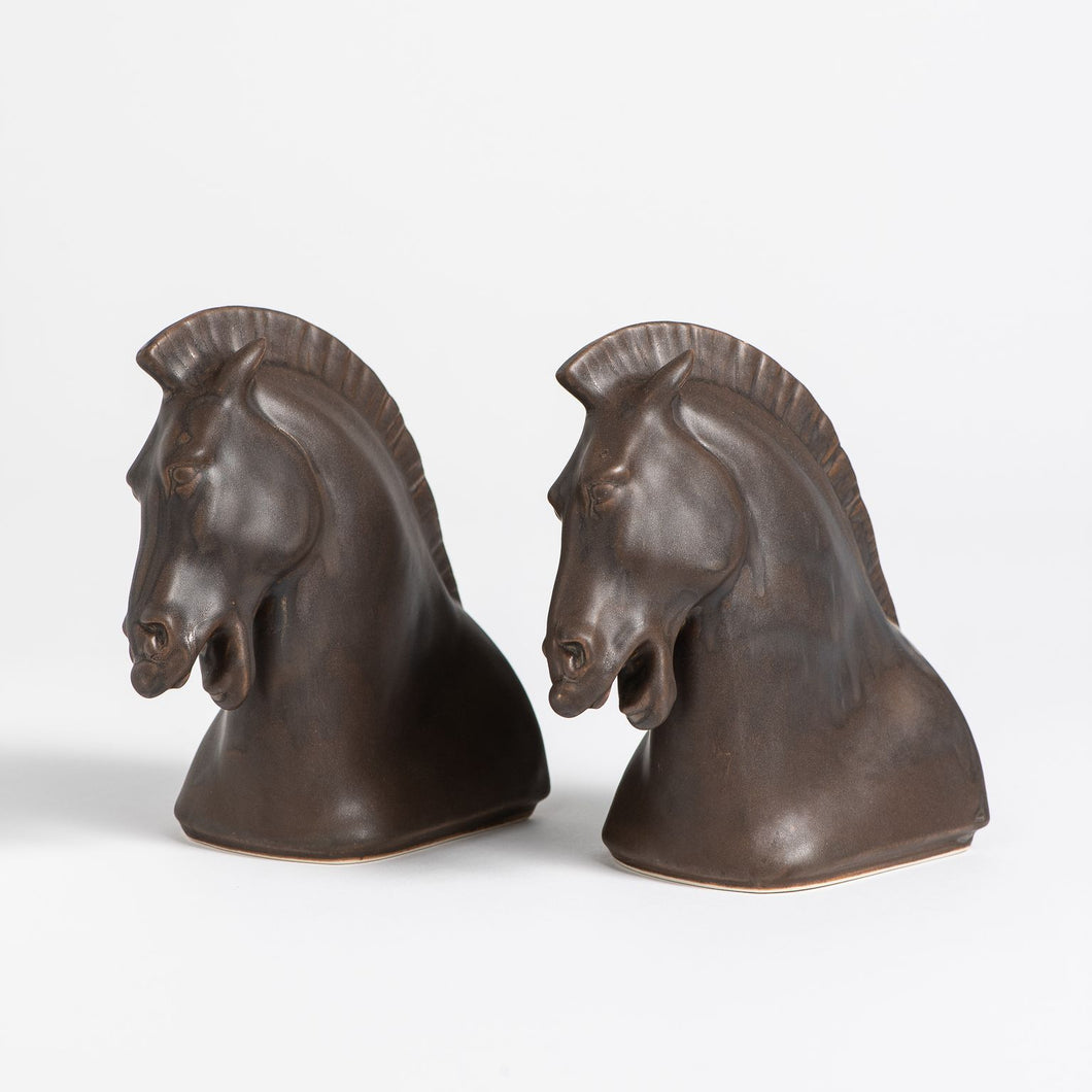 Horse Head Bookends Set