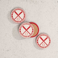 Coaster Baseball Red Single