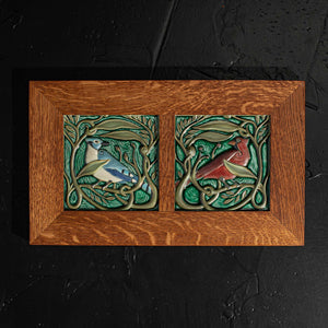 Framed Revival Bird Duo