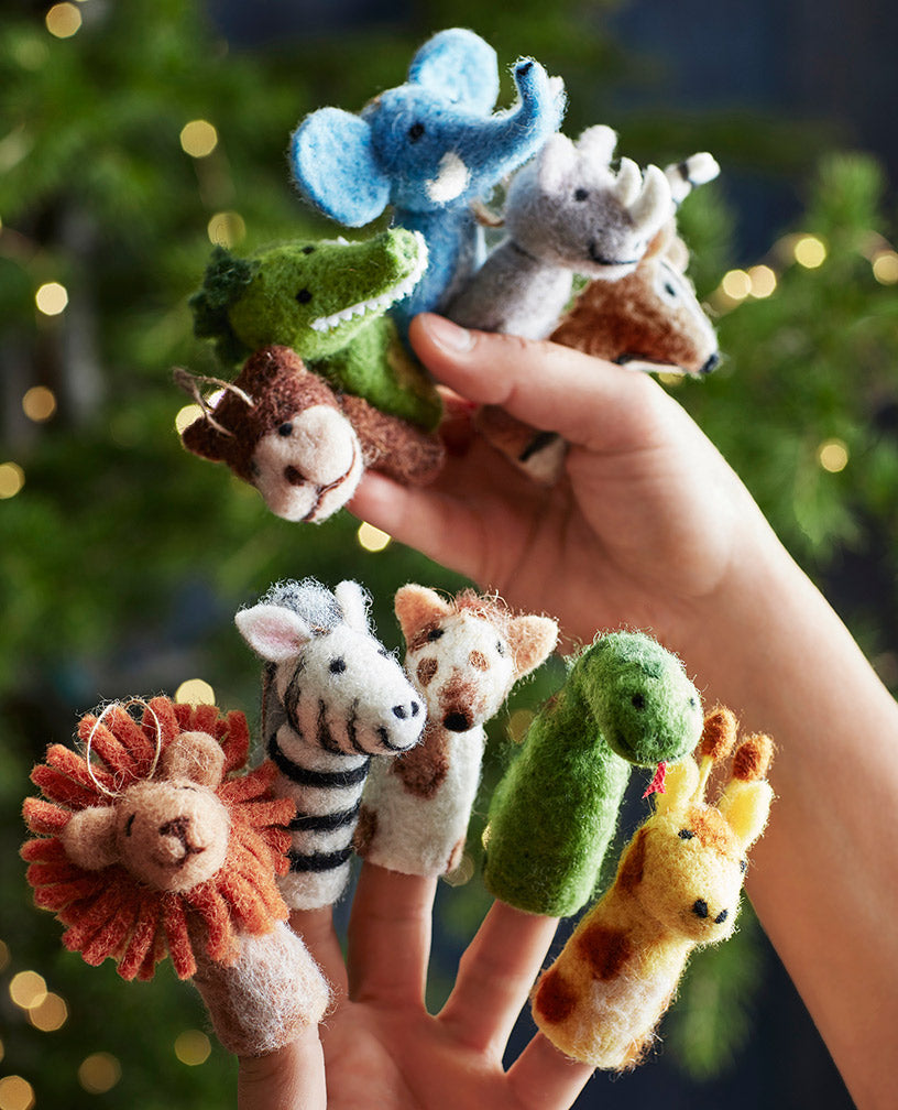 Finger Puppets Felt Wool Animal Assorted