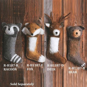 Stocking Wool Wildlife Christmas Animals Assorted
