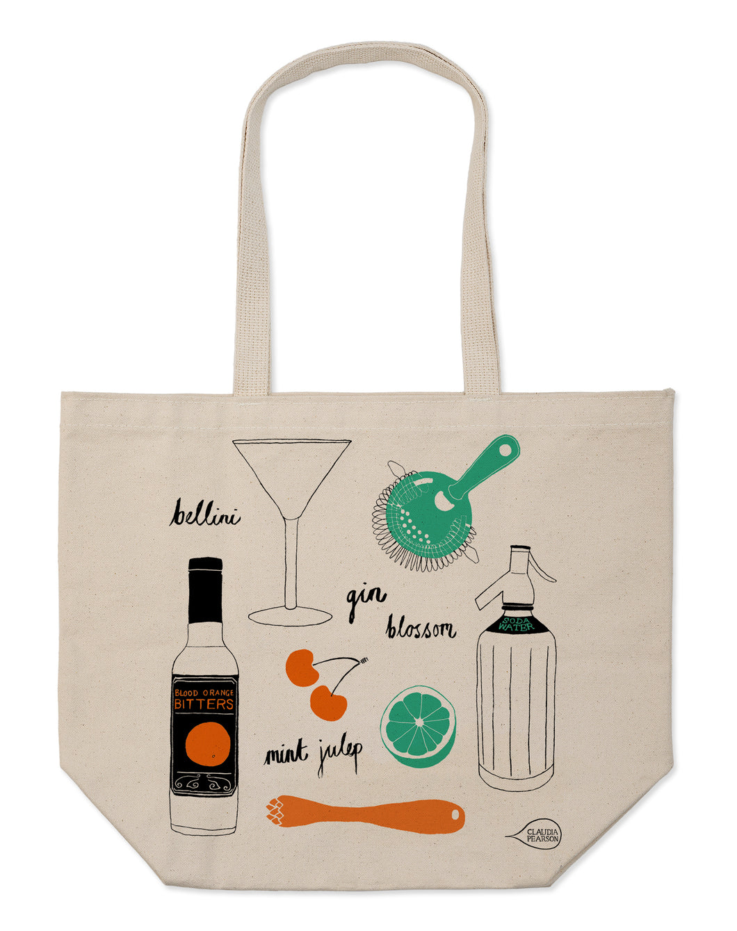 Claudia Pearson Tote- Cocktails Everyday
