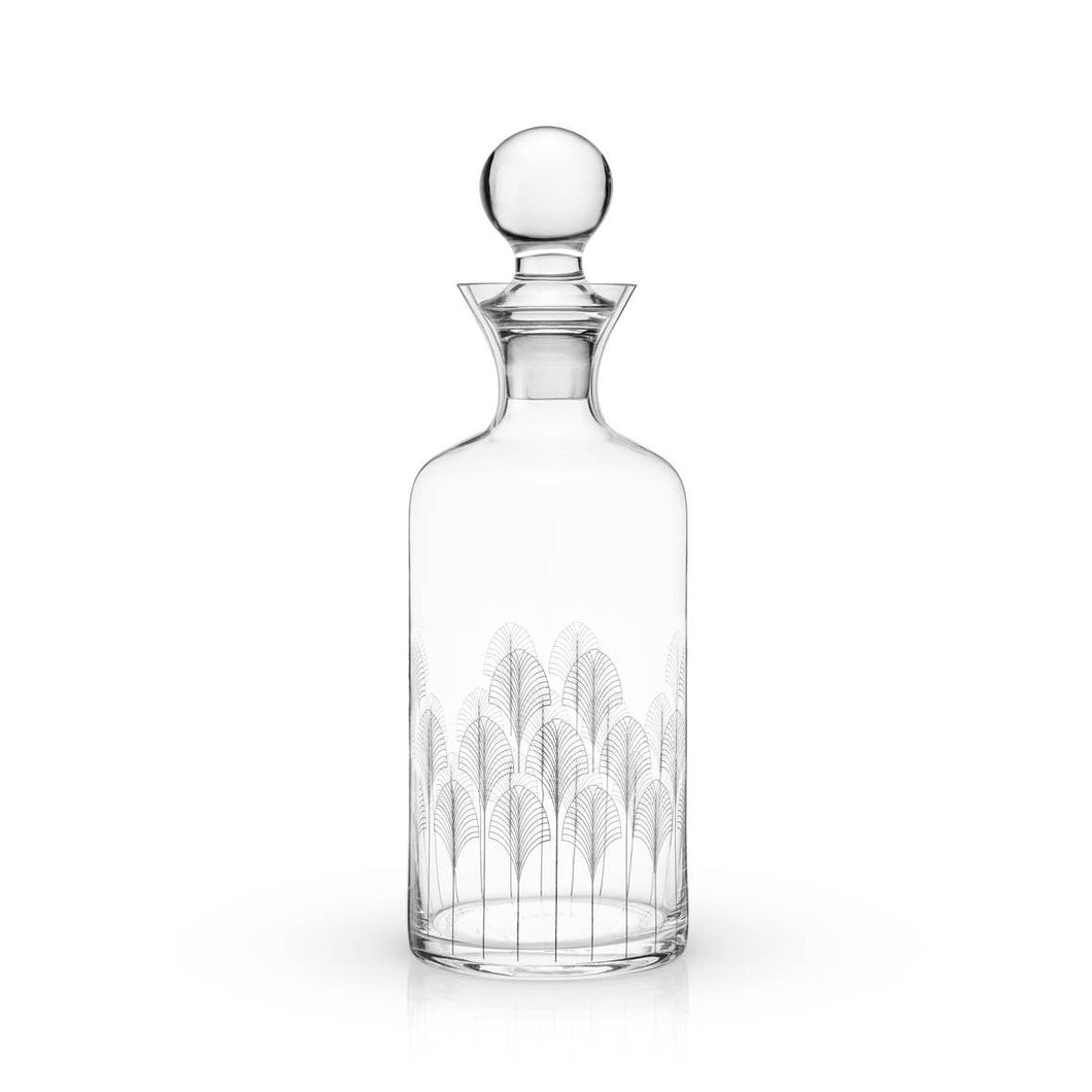 Glass Deco Liquor Decanter
