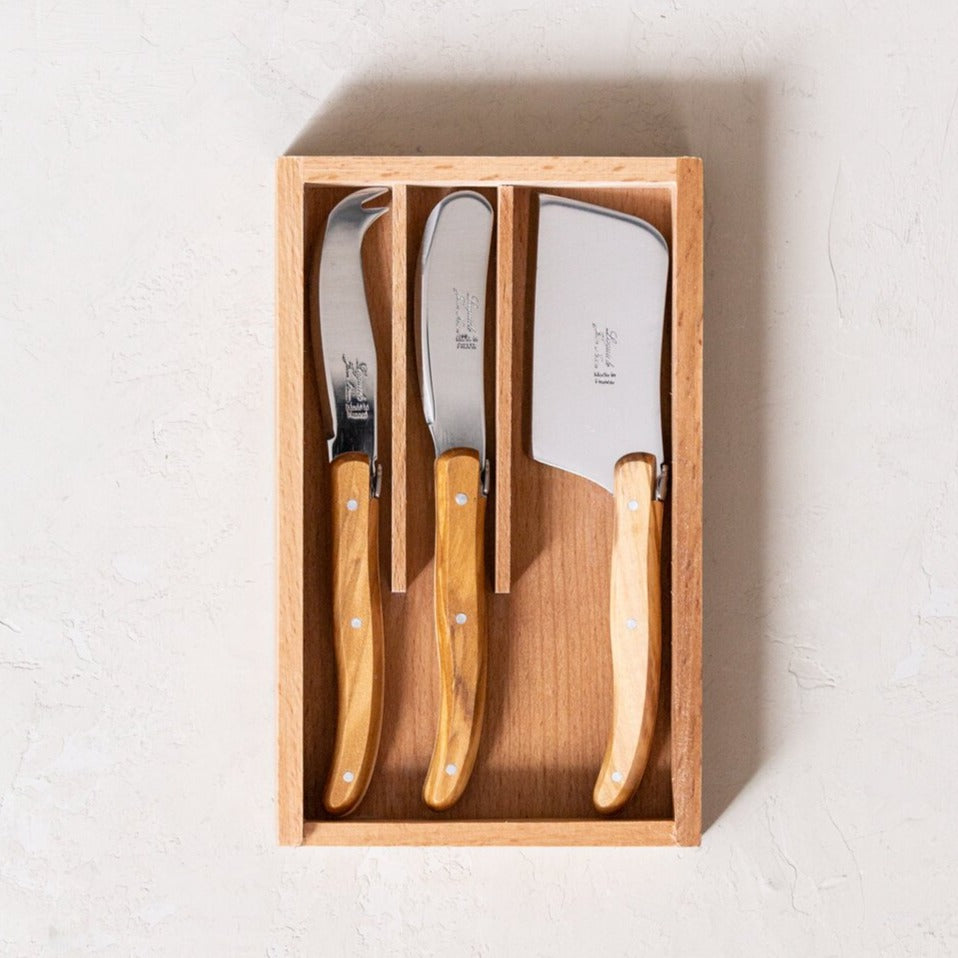Laguiole Olivewood Mini Cheese Set