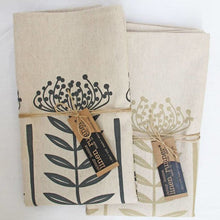 Load image into Gallery viewer, Protea Pincushion Napkins, Charcoal/Natural, Set of 2
