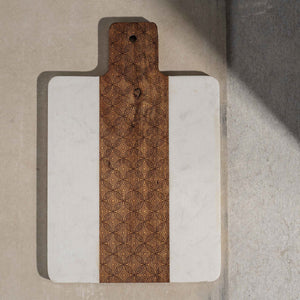 Laser Cut Wood and Marble Board