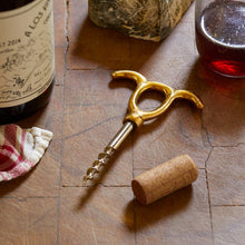 Load image into Gallery viewer, Wine Opener #2, Solid Brass + Steel
