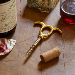 Wine Opener #2, Solid Brass + Steel