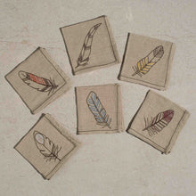 Load image into Gallery viewer, Feather Napkins, set of 6