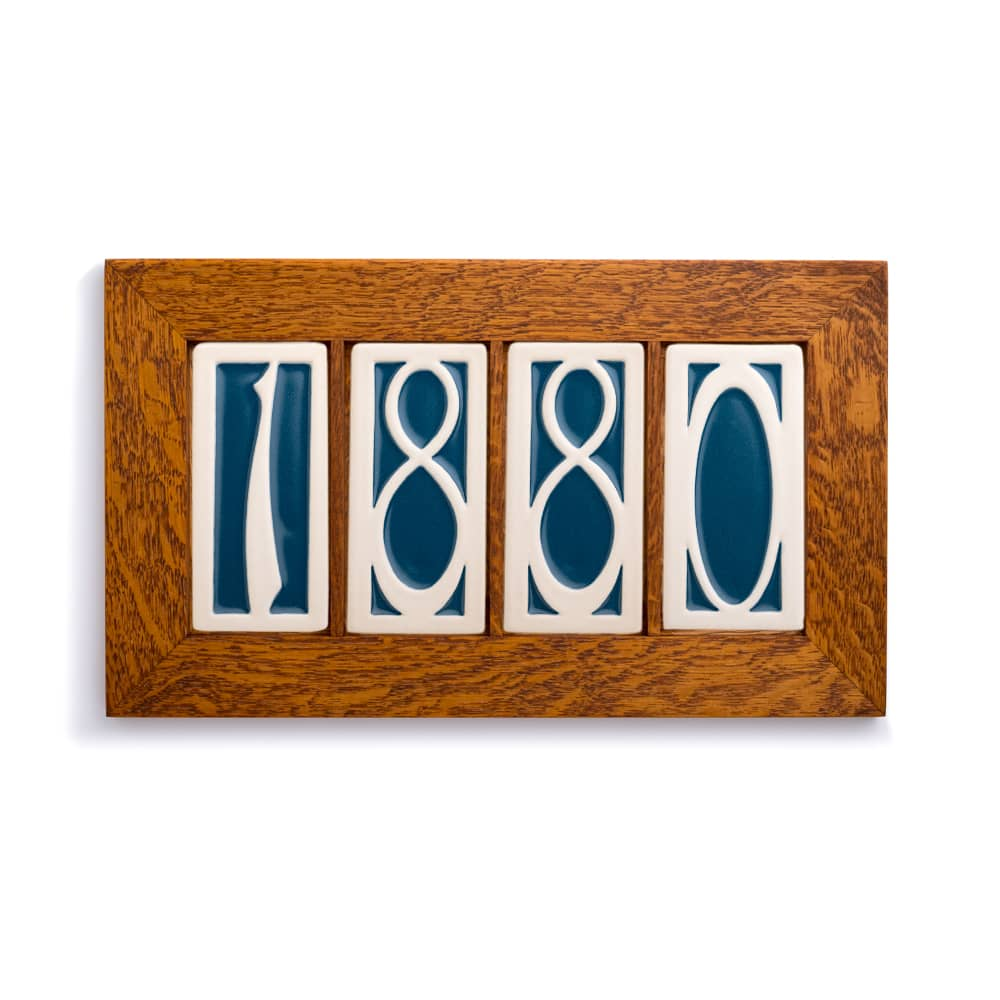 4 Part House Number Frame