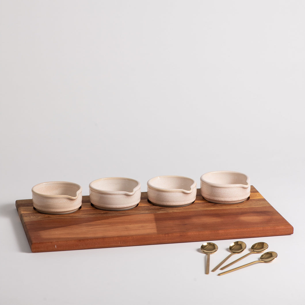 Hand Thrown Demi Sauce Flight Set