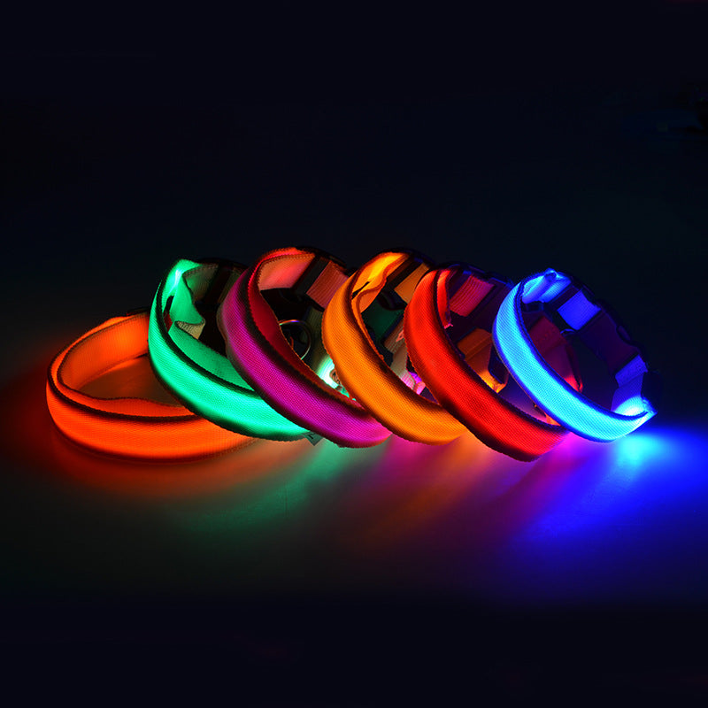 USB Charging/ Battery Powered Led Dog Collar
