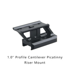 """0.5"""" Profile Cantilever Picatinny Riser Mount -inclined left"""