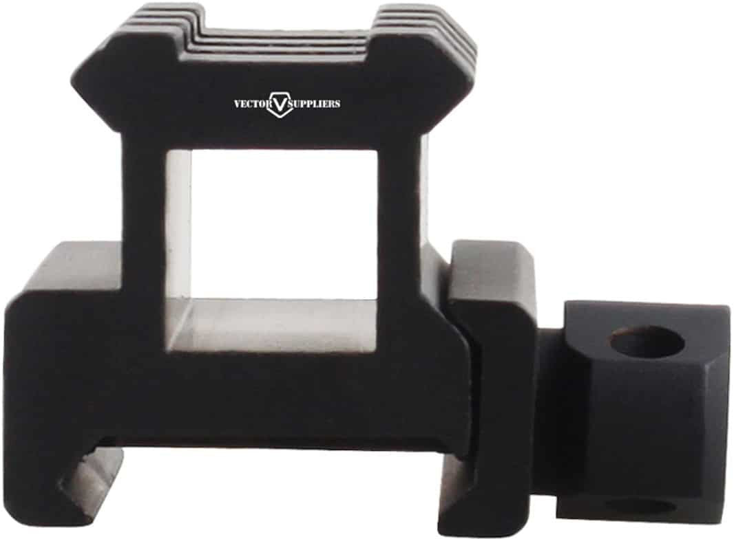 0.83 Inch Picatinny Riser Mount - front side