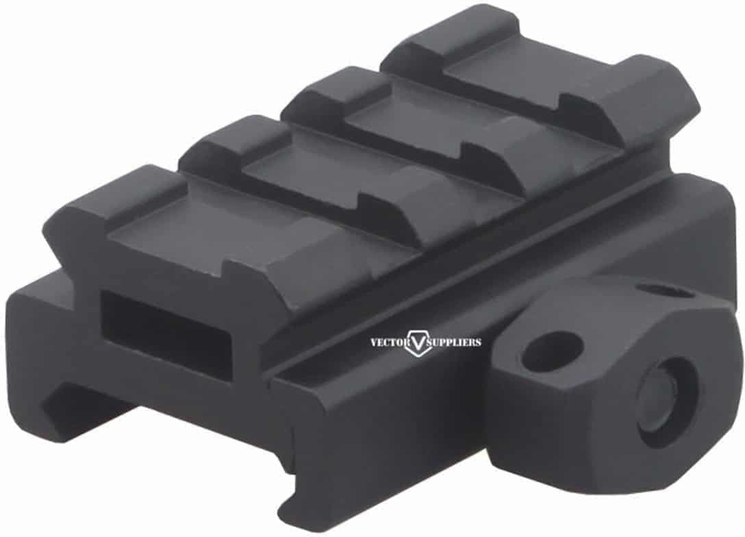 0.5 Inch Picatinny Riser Mount - front side