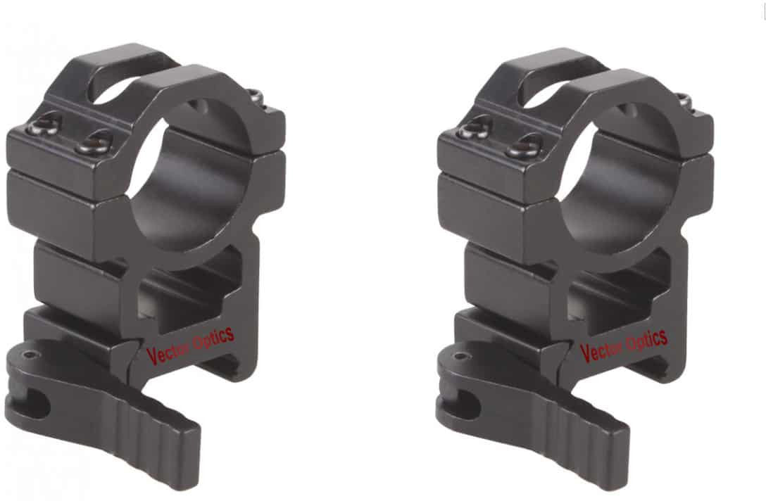 25.4mm Quick Release High Picatinny Mount Ring 1