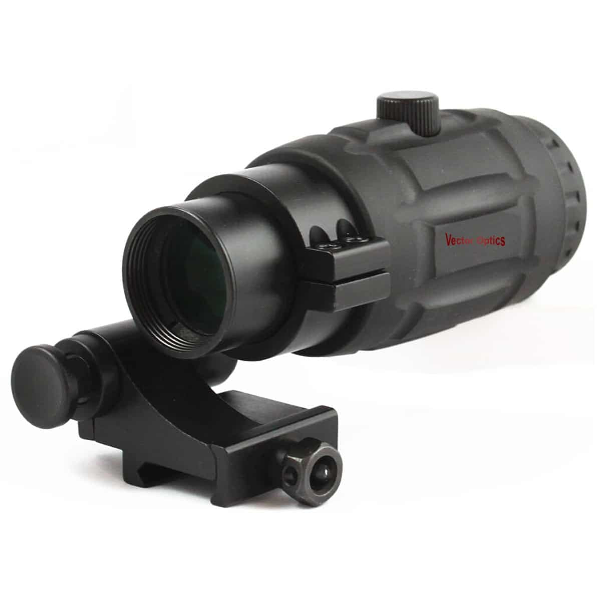Vector Optics Tactical 3x Magnifier fit for HOLO Red Dot Sight Scope with Flip to Side QD Weaver Mount Accessories