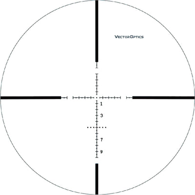 Vector Optics Marksman 10x44 Tactical Gun Rifle Scope MP Reticle Low Turret 1/10 MIL Adjustment with Mount for Best Hunting