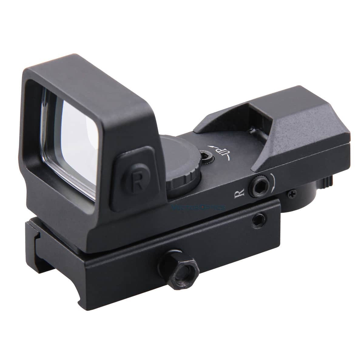 Vector Optics Sable 1x25x34 Tactical 4 Reticles Green Red Dot Sight Quick Release Digital Control Gun Scope QD Weaver Mount